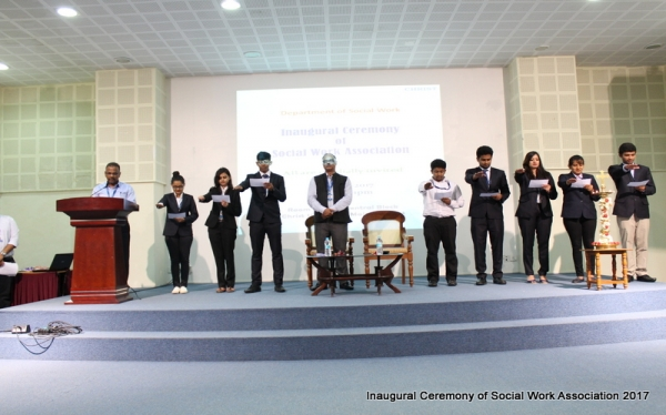 Inaugural Ceremony of Social Work Association