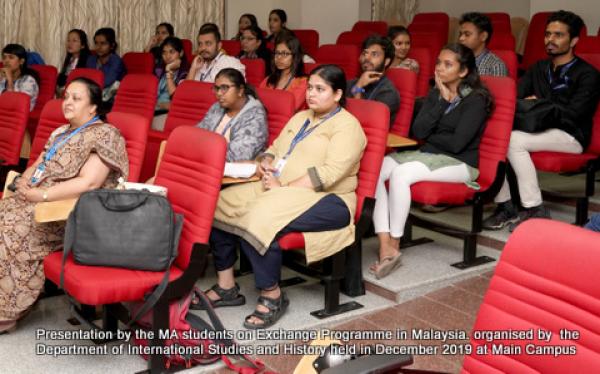 International Studies Department Student Presentation