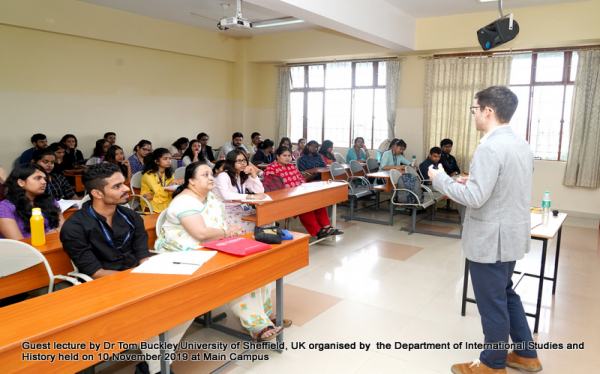 International Studies Department Guest Lecture by Dr Tom Buckley