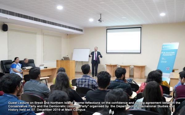 International Studies Department Guest Lecture on Brexit and Northern Island