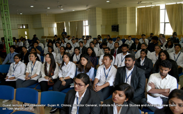 Guest lecture by Ambassador  Sujan R Chinoy